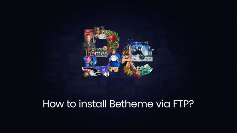 how to install betheme via ftp