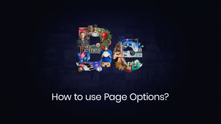 how to use page options