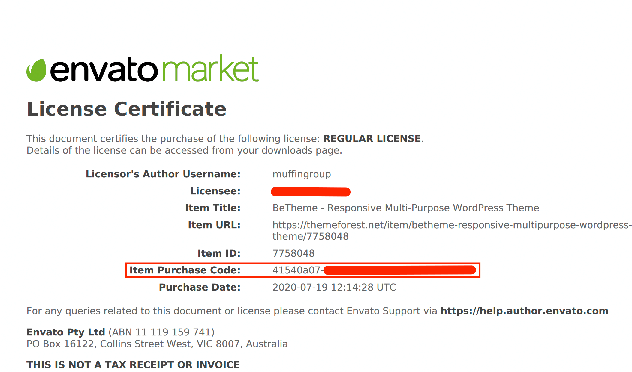 License certificate example pdf