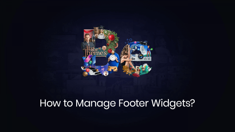 how to manage footer widgets