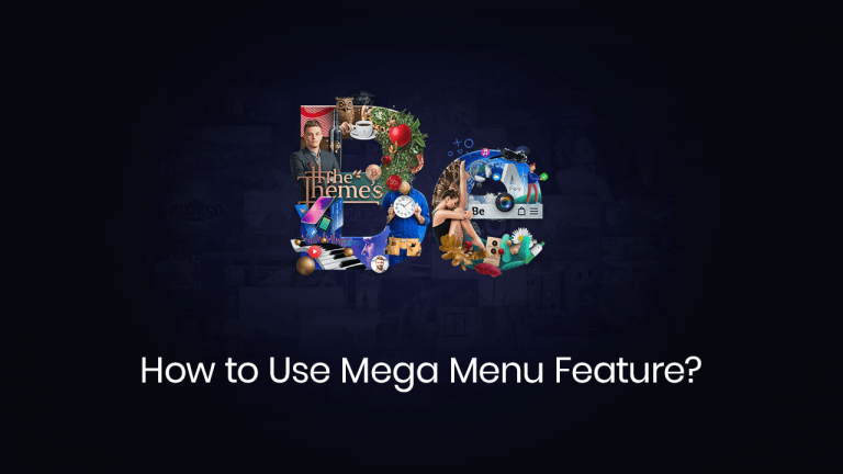 how to use mega menu feature