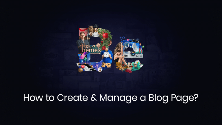 how to create & manage a blog page