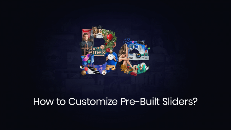 how to customize pre-built sliders