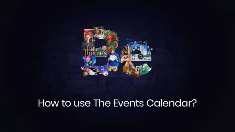 how to use the events calendar
