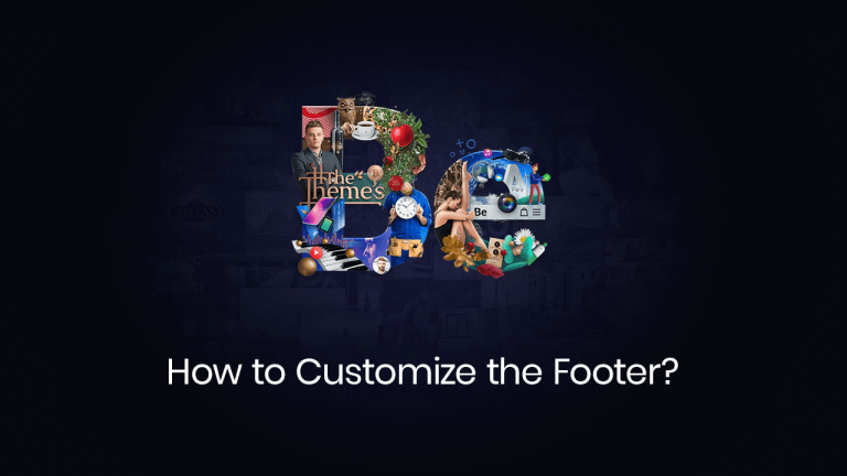 how to customize the footer