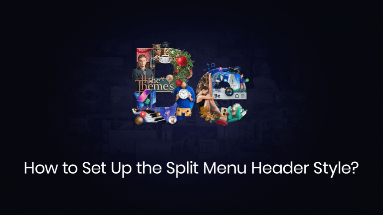 how to set up the split menu header style