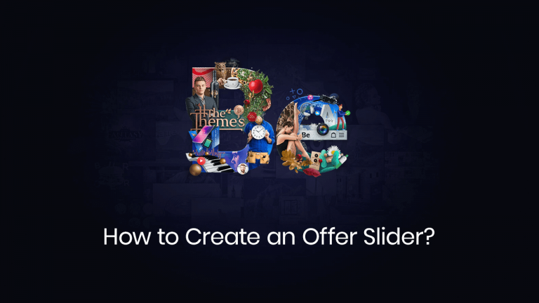 How to create an offer slider
