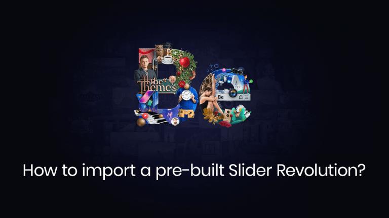 how to import a pre-built slider revolution