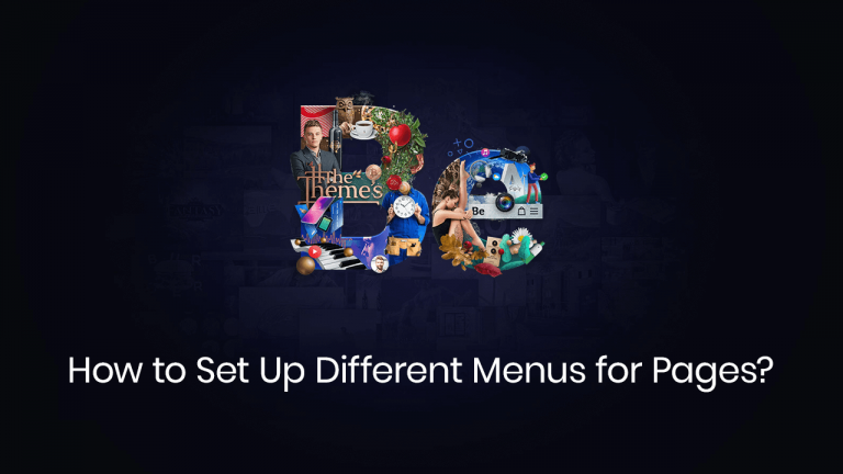 how to set up different menus per pages