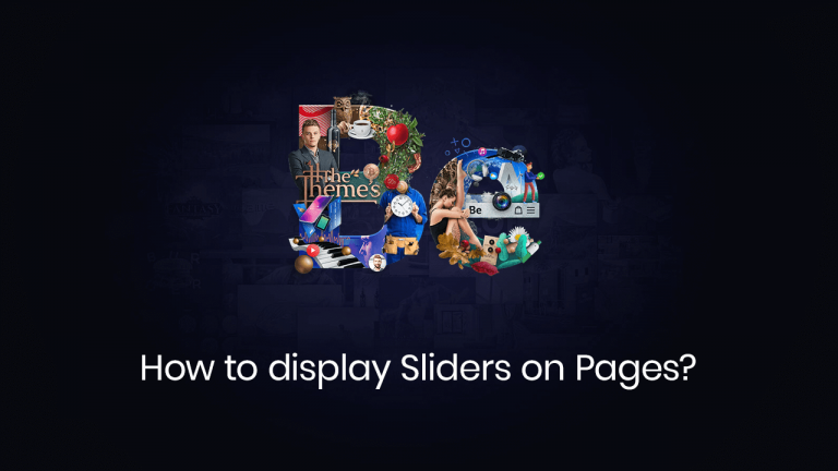 how to display sliders on pages