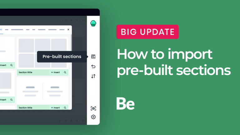how to import pre-built sections