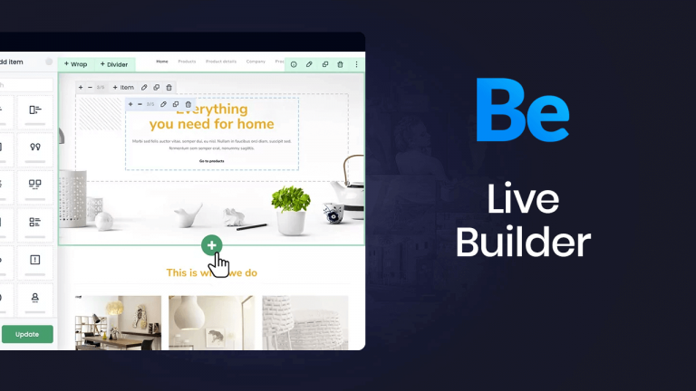 an overview of the Muffin Live Builder