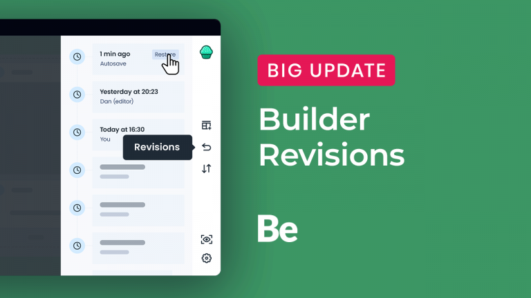 muffin builder revisions & backups